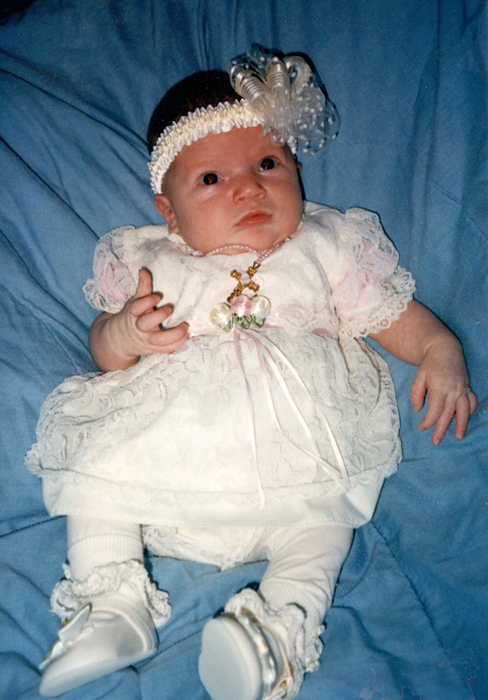 katie as a baby