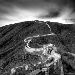 The Great Wall (Gary Newman) Tags: china bw square greatwall mutianyu thegreatwall d300