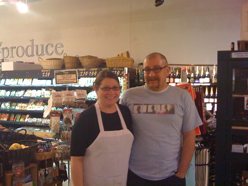 Lisa and Chris Dillman at the Hills Market