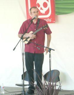 Dominator playing at the Wine Country 'Ukulele Fest
