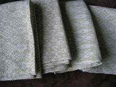 linen and cotton towels (woolthing) Tags: towels weaving