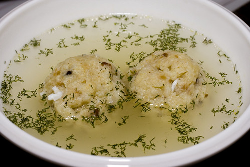 Matzoh Ball Soup with Dill