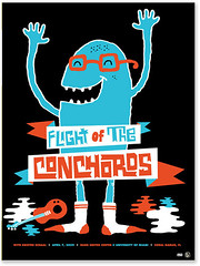 Flight of the Conchords (tad carpenter) Tags: poster sketch funny comedy flight doodle silkscreen tad carpenter conchords