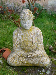 Buddah 2009 (sharon1693) Tags: rose statue garden peaceful calm welcoming