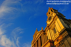 St.Paul's cathedral in a London Blue Sky... (david gutierrez [ www.davidgutierrez.co.uk ]) Tags: city uk travel blue england sky urban building london church sunshine yellow architecture clouds buildings spectacular geotagged photography photo interestingness arquitectura cityscape angle cathedral image britain outdoor sony centre religion pray stpauls cities cityscapes dramatic bluesky center icon structure architectural christian explore 350 londres architektur historical sensational metropolis alpha stpaulscathedral londra impressive dt municipality edifice cites sirchristopherwren f4556 1118mm sonyalpha sonydslra350 sony1118mm sonyalphadslr350 sonyalphadt1118mmf4556lens sonyalphadt1118mmf4556 sony350dslra350