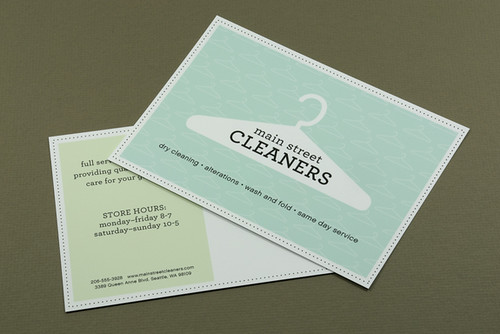 Dry Cleaners Postcard