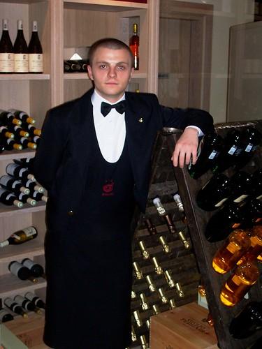 Vincenzo Donatiello, sommelier del ristorante La Frasca di Milano Marittima