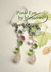 pink eye-earrings