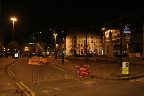 Manchester by Night - St Peter's Square