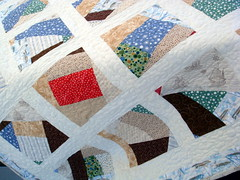 sailboat quilt closeup