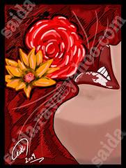 (zoom_artbrush) Tags: art girl design women graphic drawings lips adobe saida draw