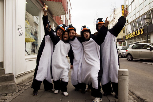 right on, drunk penguin men!
