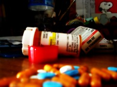 Pathetic how these are the things that help us function. (OhhMichasia) Tags: happy sad snoopy drugs pills picnik adderall lexapro