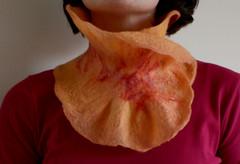 collar (red2white) Tags: felting felt collar