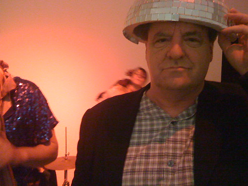 Kevin with Disco Ball hat