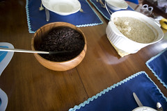 Oven-baked Brown Rice and Slow Cooked Black Beans