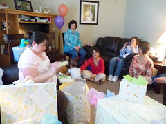 Card reading (misti_kay) Tags: presents babyshower momtobe