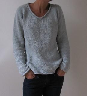 Simple Summer Tweed Top Down V-Neck pattern by Heidi Kirrmaier