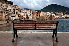 Trinacria (zio.paperino) Tags: travel sea italy holiday nature rain bench landscape geotagged nikon holidays europe italia mare natura sicily sicilia cefal d90 ziopaperino mygearandme mygearandmepremium mygearandmesilver mygearandmegold