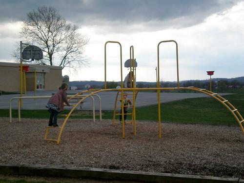 Metal Playground and Stormy Skies