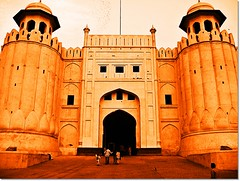 Shahi Qila ((s@jj@d)~`~DiL~AwAiZ~`~ Back) Tags: pink blue pakistan red portrait sky colour art love beautiful beauty yellow architecture portraits gate time fort muslim islam royal pakistani lover lovely punjab syed past lahore pabbi islamic punjabi shah landscap shahiqila panjabi landscaps dil shahi qila lahori sajjad mugal panjab peshawer nowshera chirat awaiz dilawaiz