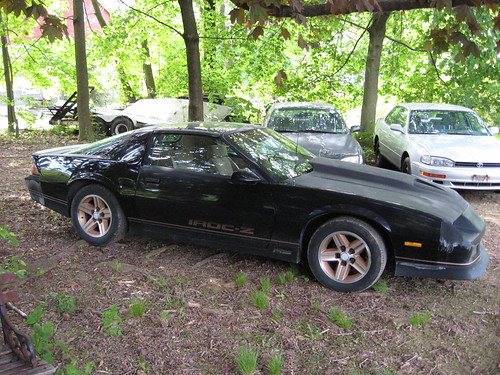 This is my old '86 Camaro IROC Z28. 305 carb, automatic transmission,