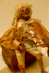 Monkey Violinist, c 1855 (Curious Expeditions) Tags: old museum toys newjersey dolls mechanical antique nj musical puppets morris clockwork morristown gears musicbox automata automaton