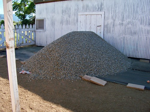 Backyard gravel
