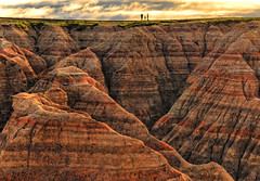 Trio on the Ridge (Jeff Clow) Tags: vacation southdakota landscape bravo raw ta badlandsnationalpark 1exp jeffrclow thebadlandssouthdakota