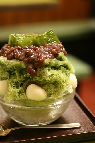 Ujikintoki Kakigori -  Japanese dessert
