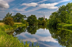 River Soar (towards Normanton on Soar) (Gordon Mould) Tags: reflection church water river lens geotagged nikon flickr leicestershire kitlens explore kit hdr loughborough soar lightroom 18105 d90 tonemapped explored riversoar 18105mm superaplus aplusphoto nikond90 normantononsoar