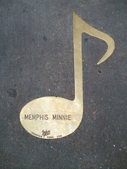 Brass note on Beale Street for Memphis Minnie
