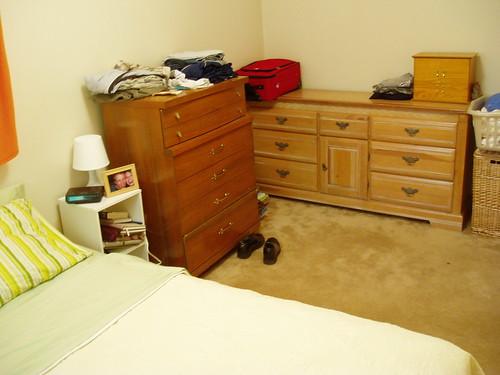 wood house yellow bed bedroom dresser