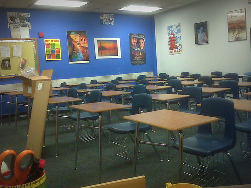 first day back in my classroom...5 days to get it re-ready for the kids' arrival!