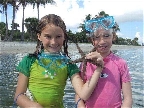 Rylee and Sydney with a Beaded Starfish