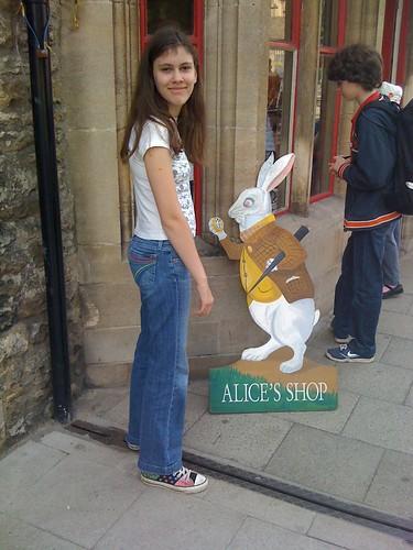 Oxford, Alice's Shop w/White Rabbit