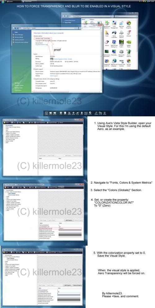 Windows Vista Home Basic com Aero Glass