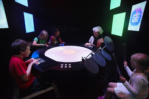 Kids Making Music: Interactive Music Box Draws Experience from Games