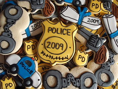 Serve and Protect (SweetSugarBelle) Tags: cookies diploma police badge pistol policecar revolver handcuffs policeacademy