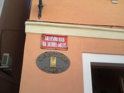 Pirano-Via Jacobus Gallus