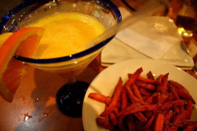 margs and sweet potato fries