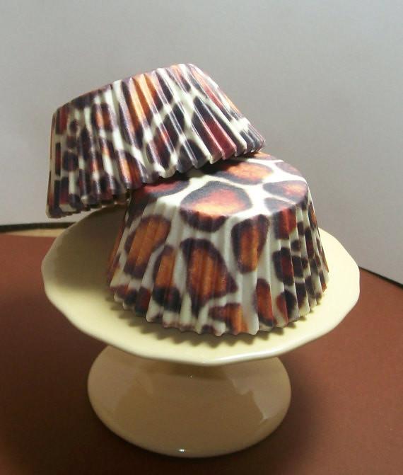 Cheetah Print Cupcake Liners
