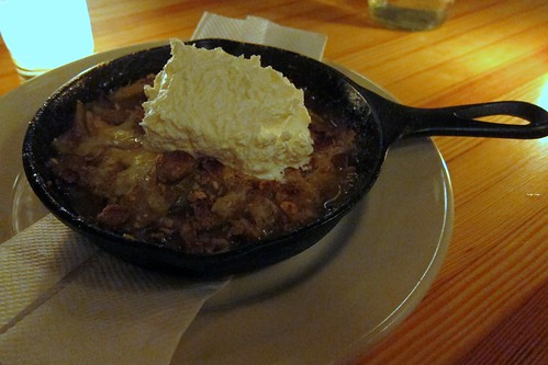 Granny smith apple crumble with whipped cream and cheddar CHEESE!!!