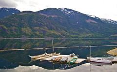 Strathcona Park Lodge (Dustin Quasar) Tags: park lake reflection sailboat boats raw lodge canoes strathcona vorg