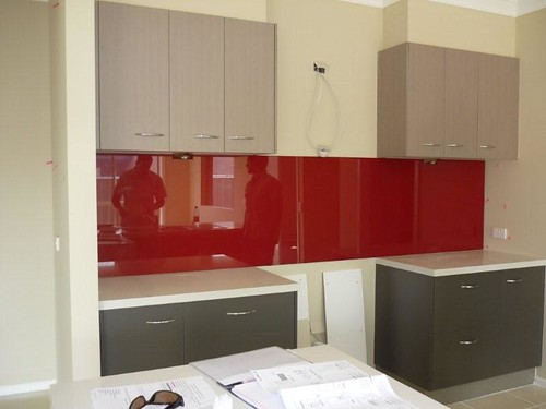 All Red Splashbacks