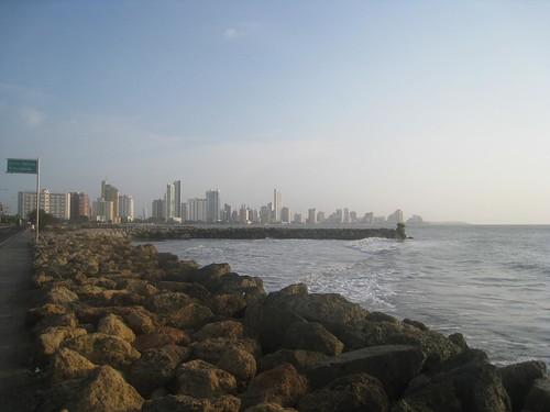 View toward the beaches of Cartagena
