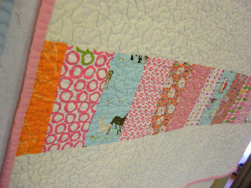 Baby Girl Coin Quilt - back detail