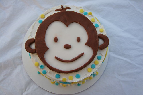 Mod Monkey Cake for 1st Birthday