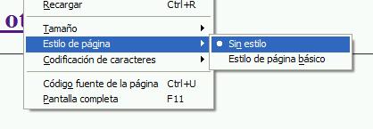 Captura de pantalla de Firefox con las hojas de estilo desactivadas para así poder capturar fotografías