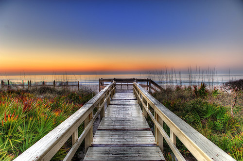Sunrise on the Boardwalk by arturodonate, on Flickr